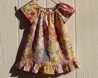 Nouveau Flower Peasant Dress Size 3T