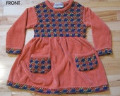 MISSONI Designer Knit Dress RARE Authentic Made in Italy Girls early 1970s Size 92 (2 years)