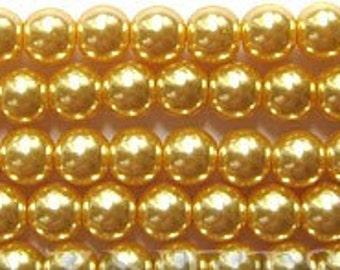 "6mm Elegant Champagne Glass Pearls 15.5""  70 plus pcs"