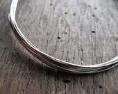 Antiqued 24 gauge Sterling Silver Wire -  5 feet