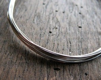 Antiqued 24 gauge Sterling Silver Round Wire -  5 feet