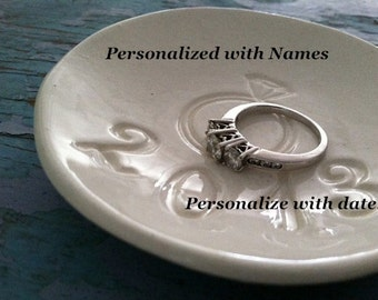 Engagement Gift, Ring Dish, Ring Dish Holder, Ring Bowl, Jewelry Dish, Personalized Ring Holder