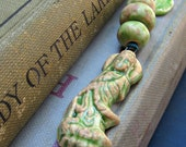 Ceramic Quan Yin Bead Bundle Avocado