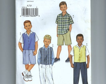 Butterick Boy's Vest, Shirt, Shorts, and Pants Pattern 3792