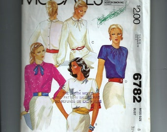 McCall's Misses' Blouses Pattern 6782
