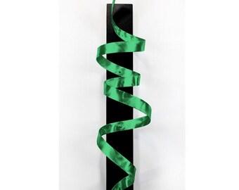 Green Abstract Metal Wall Sculpture - Modern Metal Wall Art - Home Decor Accent - Wall Hanging - Twist Sculpture - Green Knight by Jon Allen