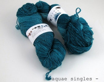 tintagel - aquae singles, fingering weight singles construction (dyed to order)