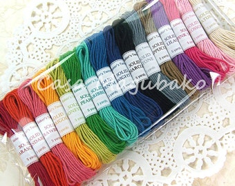 Baker's Twine Sampler - 5 Yards in each of 16 Solid Colors - 80 Yards Total
