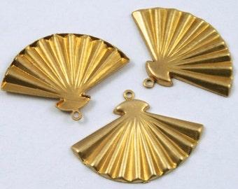 22mm Brass Open Fan (4 Pieces) #225