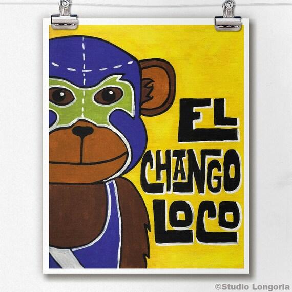 Luchamal El Chango Loco Wall Art Print