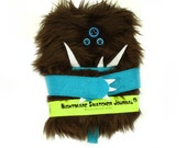 Nightmare Snatcher children's monster journal, brown blue furry monster spell book Crubbly