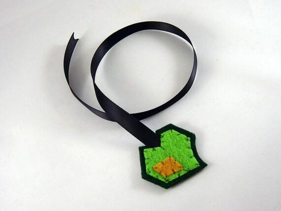 Frankenstein Heart Bookmark - green honey yellow