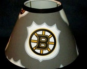 ON SALE Lampshade Kids PB Teen Nhl Hockey handmade with Pottery Barn Kids fabric, Lamp Shade, Any Color Trim, 4 Sizes