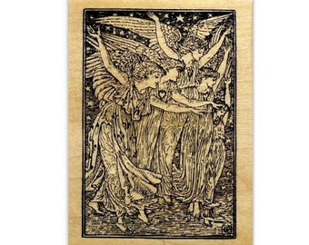 The Angels - Christmas Mounted rubber stamp No.13