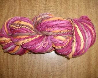 Handspun handdyed merino yarn Super bulky 118 yd