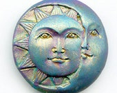 Polymer Clay Abstract  Sun and Moon Cab SMT 1
