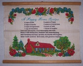 Vintage Happy Home Recipe Wallhanging