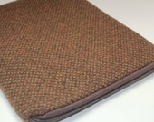 Water Resistant  13 inch MacBook Air Laptop Sleeve Case Cover - Padded - Tweed - Rust