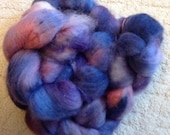 Autumn Skies Hand dyed Bluefaced Leicester Fibre