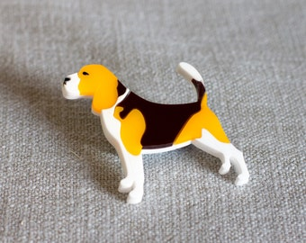 Beagle brooch - Beagle Jewellery - Dog brooch - Dog gift - Beagle Gift - Gift for dog lover - Gift with Beagle - Beagle Dog