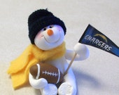 San Diego Chargers: snowman ornament
