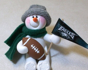 Philadelphia Eagles: Football snowman ornament