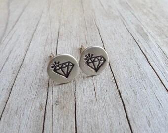 A Girl's Best Friend - Diamond Post Earrings