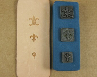 Fleur Ornamental Stamps by Melody Ross / Set of 3 / Use On Chipboard And Leather
