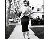RESERVED Marilyn Hour Glass High Waist WIGGLE SKIRT Pencil Skirt, custom made, smaller sizes.