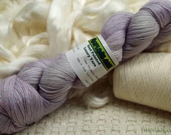 Hand painted Vivacot Bamboo yarn, 2.8 oz, Lavender