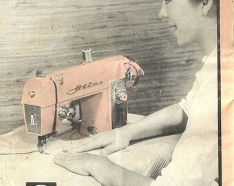 Pink Atlas Sewing Machine Instruction Manual Instant Download