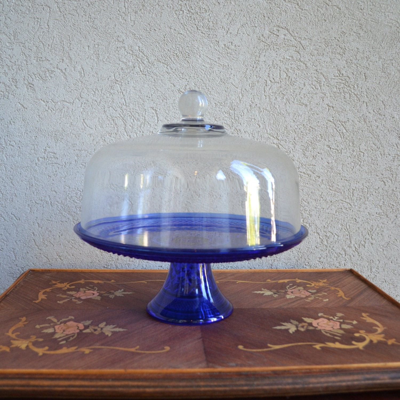 Blue cake stand vintage