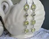 "light yellow statement earrings, silver, dogwood assemblage earrings. ""Reverie"""