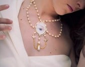 Gold Pearl Necklace - The Sparrows