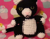 Amigurumi Angry Tuxedo Kitty Plush