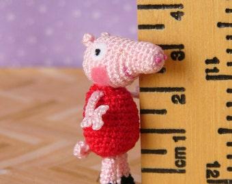 PDF PATTERN - Amigurumi Crochet Miniature Peppa Pig