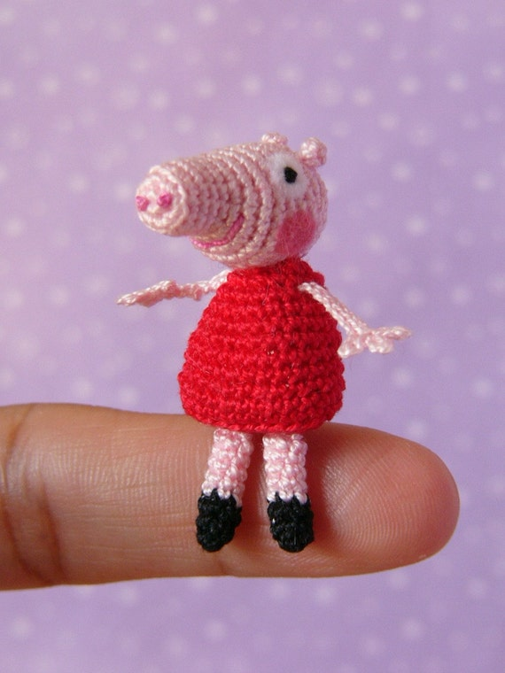 Amigurumi Tutorial Peppa Pig : PDF PATTERN Amigurumi Crochet Miniature Peppa by ...