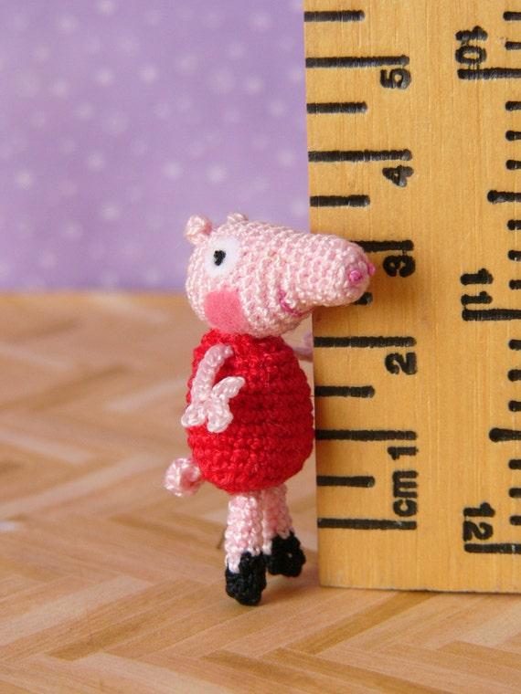 Amigurumi Peppa Pig Mini : PDF PATTERN - Amigurumi Crochet Miniature Peppa Pig from ...