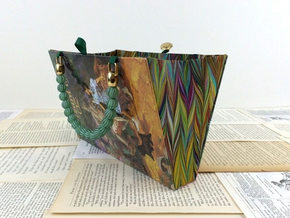 Custom Wizard of Oz Book Purse - made from recycled vintage book