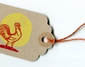 Rooster gift tag
