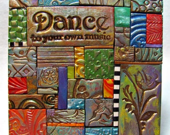 Dance Polymer Clay Tile Mosiac MM40018-15