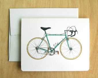 Classic Bianchi Bicycle Card