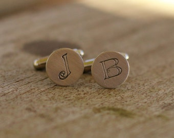 Custom  Hand Stamped Cuff Links Whimsical