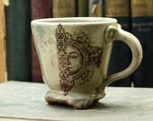 Coffee Mug - Sun Moon Face - Home Dining Entertainment Cup