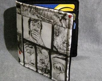 Walking Dead mens wallet zombie fabric bifold comic