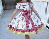 Girls Dress, christmas dress, holiday dress, fairy dress, red white green, ruffled dress, twirl dress, slip dress, tween girl dress, formal