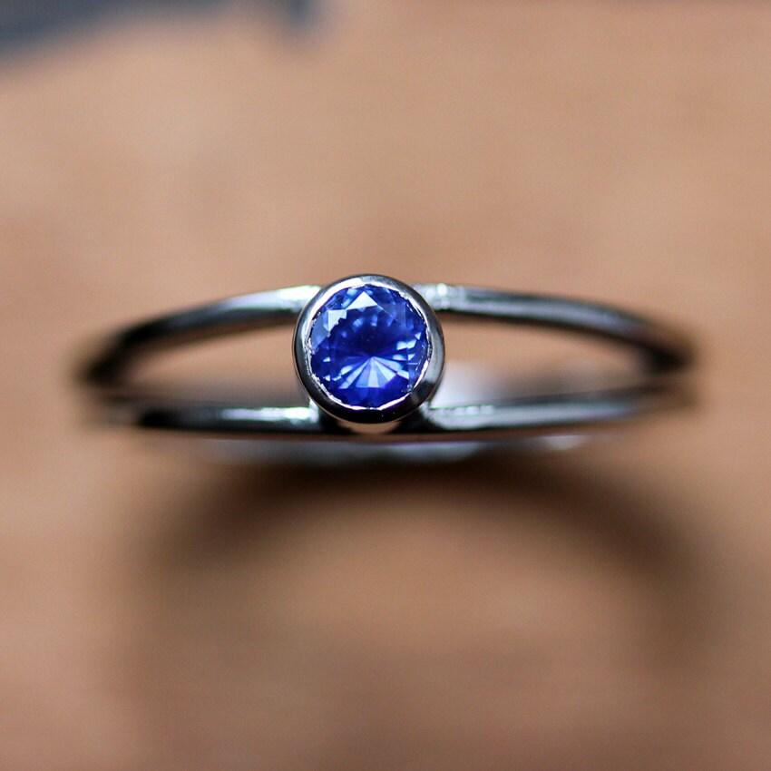 Sapphire engagement ring modern alternative engagement ring