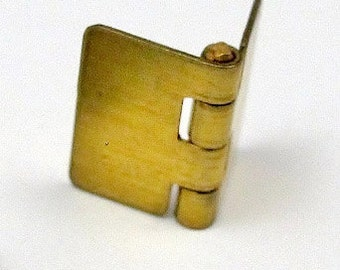 Vintage Brass Hinge Book Charms (6X) (V230)