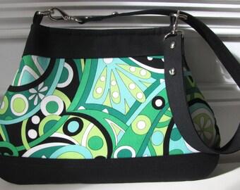 Mod Swirls Handbag / Purse / Shoulderbag In Michael Miller Fabric