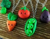 Happy Kawaii Vegetable Necklace